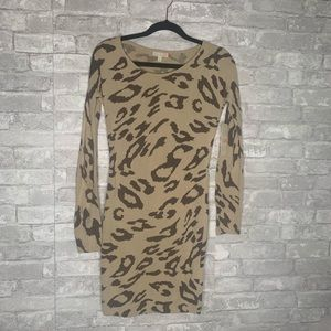 GB Juniors Cheetah Print Sweater Dress